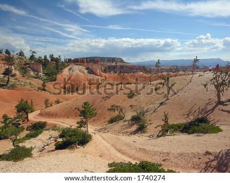 the strange landscape of bryce canyon.