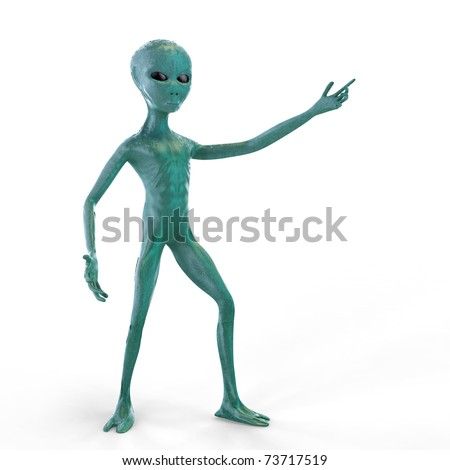 The stranger shows his hand on the white background