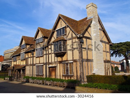 The Stratford shakespeare birthplace - England
