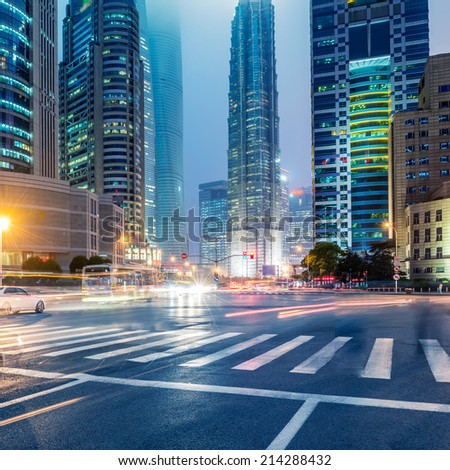 the street scene of the city in china #214288432