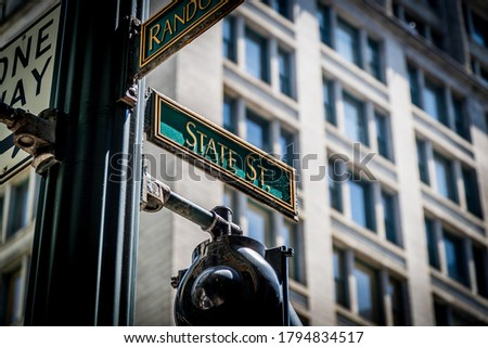 The Street Signs of Chicago Photo stock ©
