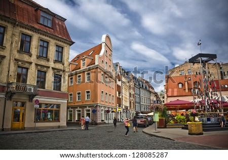 The streets in old town, Riga, Latvia