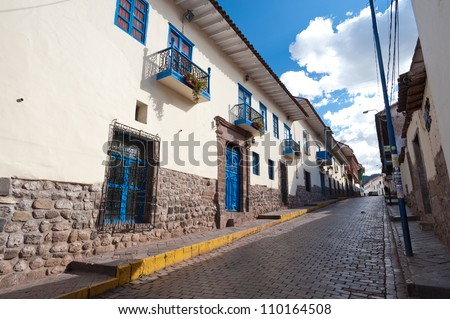 The streets of Cusco, Peru