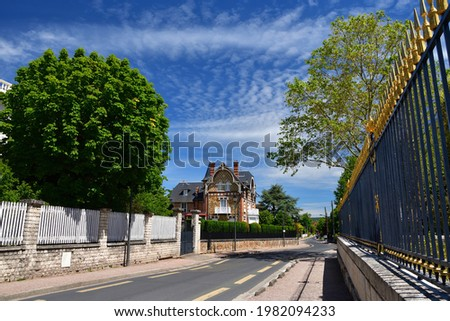 The streets of Maisons-Laffitte in the department of Yvelines, France, May 28, 2021. Photo stock ©