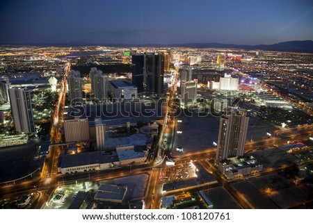 the strip, Las Vegas (USA) by Night