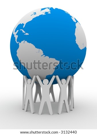The strong unity - stock photo