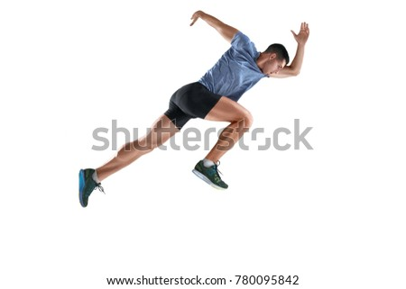 The studio shot of high jump athlete is in action - Shutterstock ID 780095842