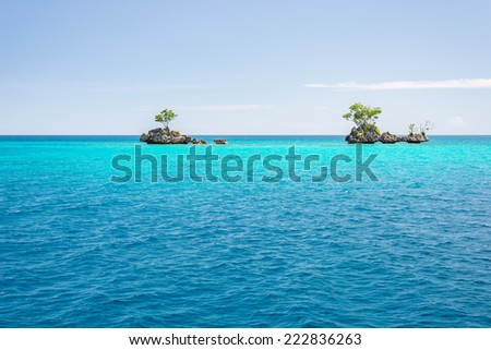 Stock Photo The stunning colors of the remote Togean Islands, Central Sulawesi, Indonesia.