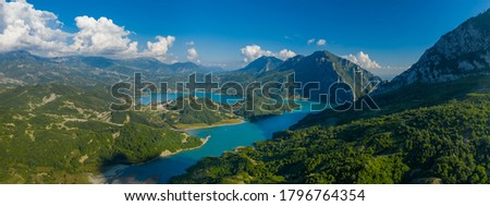 The Stunning Lakes of Albania. Aerial view. Stock photo ©
