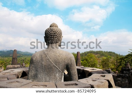 The stupa of Borobudur temple