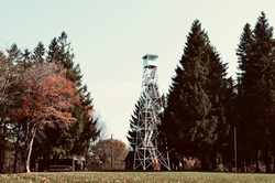 The Sugar Hill Fire Tower in the park is 75 feet tall, as currently one of the last fire towers in New York State readily accessible to the public and affords a 15-mile view from the top of the stairs