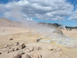 The sulfur fields at the Namaskard Pass in Iceland are a pristine sight, but they give off a pungent smell