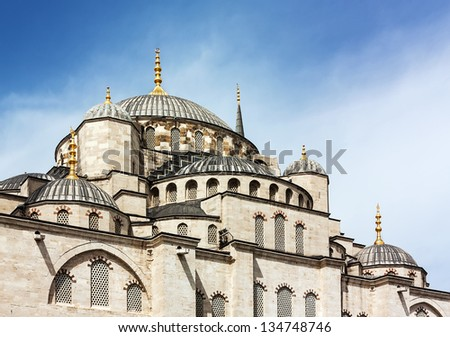 The Sultan Ahmed Mosque known as the Blue Mosque is an historic mosque in Istanbul. It was built from 1609 to 1616