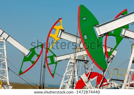 The summer landscape is artificial, oil is rocking, oil pumps, this is the air and water of our economy #1472874440