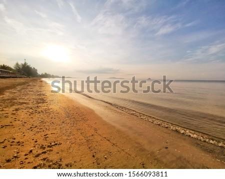 The sun at sea sea