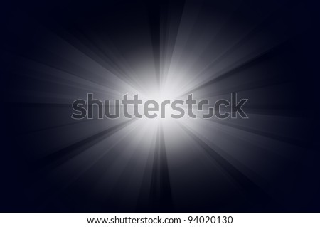 The Sun burst with blue background