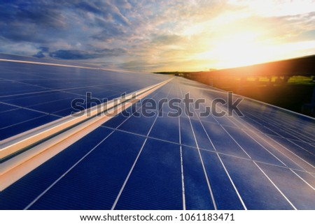 The sun goes up to the sky in order to store the solar energy in the solar cell. It is a renewable energy that reduces the resources of the world. Energy-saving ideas to save the world #1061183471