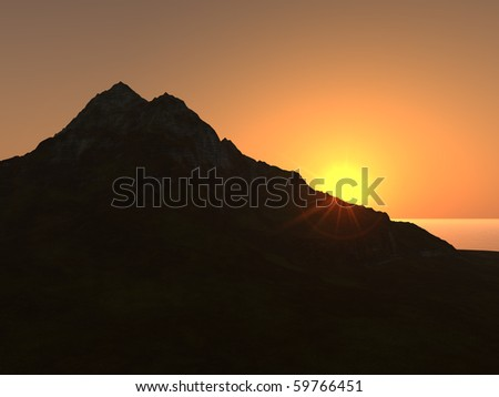 Mountain Silhouette Clip Art