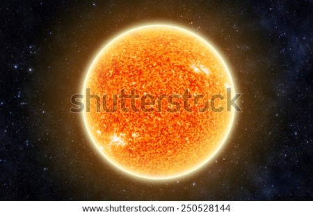 The Sun in Space - Elements of this Image Furnished By Nasa