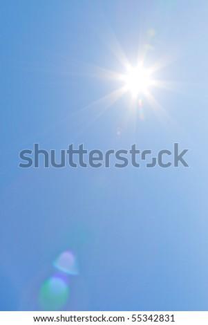 The Sun on a clear sky