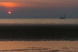 The sun sets on Mindi beach in Darwin Australia