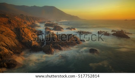 The sun states at Garrapata State Park in Big Sur, California.