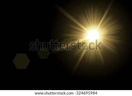 The Sun. Sun glare.