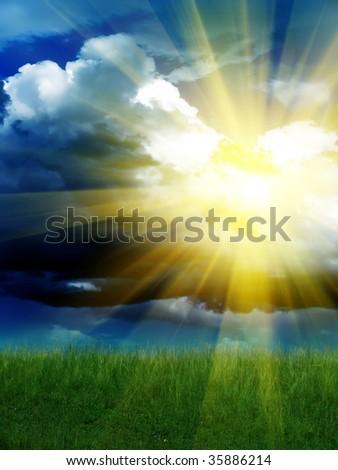 The sun the cloud sky #35886214