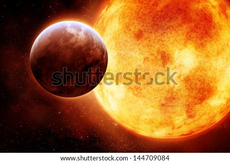The Sun with circling planet