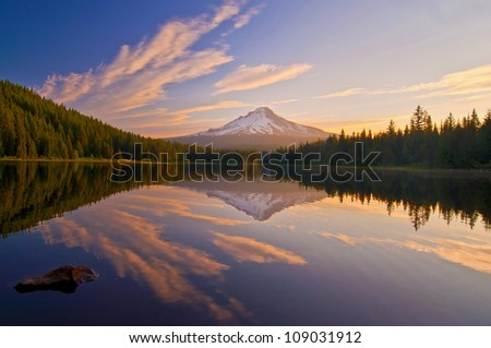 The Sunrise at Trillium Lake Oregon