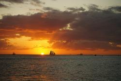 The Sunset scenery in Keywest island