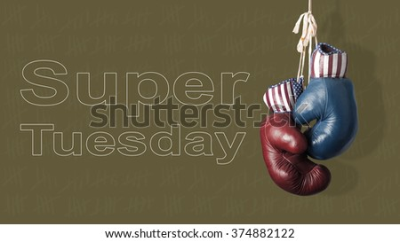 The Super Tuesday in the United States of America #374882122