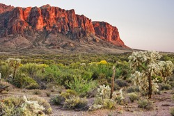 The Superstition Mountains are a range of mountains in Arizona located to the east of the Phoenix area.