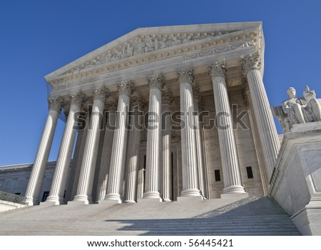 The Supreme Court building in Washington DC.