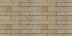 The surface is paved with road tiles of different sizes (multi format). The uneven (melange) color of the tile makes it look like a natural stone. Specially prepared background for seamless shading.