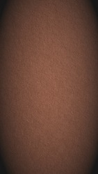 The surface of brown cardboard. Paper texture with cellulose fibers. Paperboard mobile phone wallpaper with vignetting. Vertical graceful spicy mix color background. Textured backdrop. Macro