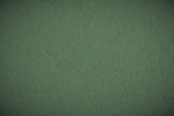 The surface of dark green cardboard. Paper texture with cellulose fibers. Paperboard wallpaper or background with vignetting. Modern, futuristic, elegant autumn color. Macro