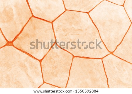 The surface of the area is covered with ceramic plates. Sepia color style.
