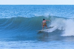 The surfing at  Arugam Bay, Sri Lanka Island