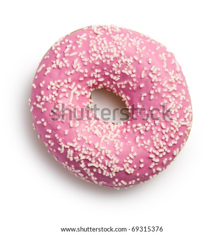 the sweet doughnut on white background