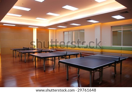 the table tennis field