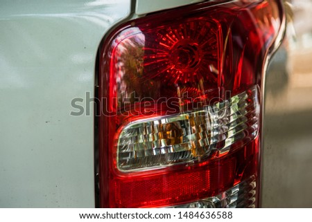 The tail light is a warning signal for cars that are behind. Knowing to stop or turn left or turn right #1484636588