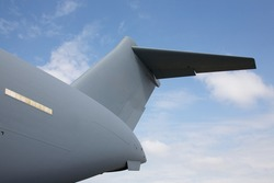 The tail of the C-17 Globemaster