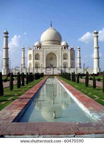 The Taj Mahal at Agra India, a UNESCO world heritage site
