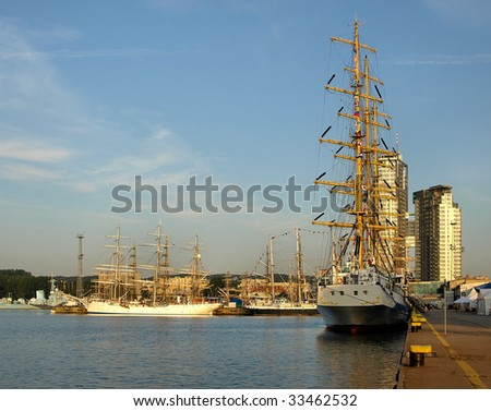 THE TALL SHIPS RACES BALTIC 2009, GDYNIA, POLAND - JULY 03: Tall ship world's biggest rally in Gdynia from July 2009. City for the 4 time to stopover in the regatta, July 03, 2009 in Gdynia, Poland