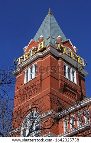 """The """"Tech Tower"""" is the landmark & oldest building on the campus of the Georgia Institute of Technology, better known as Georgia Tech, one of the premier engineering universities in America."""