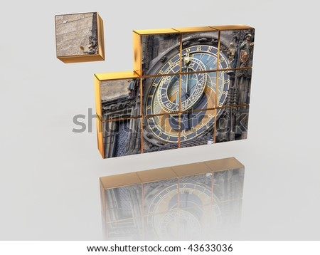 The television image. 3d - stock photo