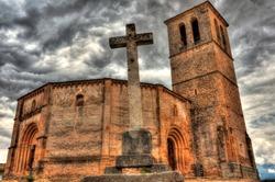 The Templar Vera Cruz Church, an example of splendid Romanesque, Segovia, Spain