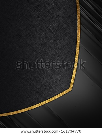 The template for the inscription. Abstract black background with black inserts.