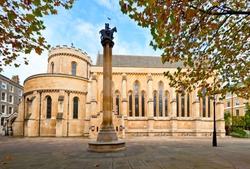The Temple Church, a late-12th-century church in London, England